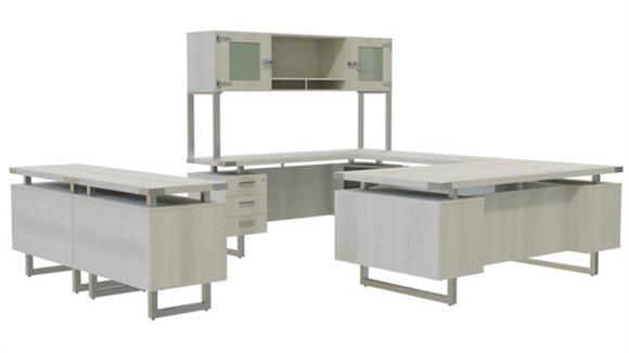 U Shaped Desks Safco Office Furniture Typicals U-Shaped Desk Set