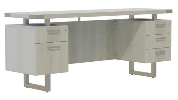 "Office Credenzas Safco Office Furniture 66""W x 20""D Credenza, BBB/BF Pedestals"