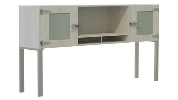 """Hutches Safco Office Furniture 72"""" Hutch with Glass Doors"""