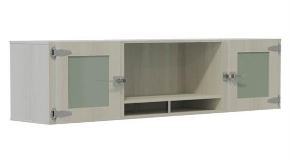 """Hutches Safco Office Furniture 66"""" Hutch with Glass Doors"""