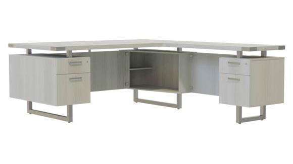 """L Shaped Desks Safco Office Furniture 72"""" x 78"""" L-Shaped Desk, BF/BF Pedestals"""
