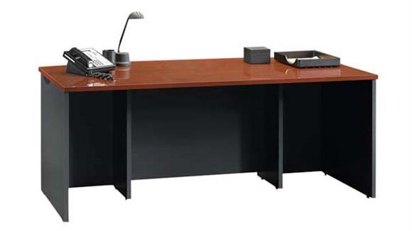 """Executive Desks Sauder 72"""" Bow Front Executive Desk Shell"""