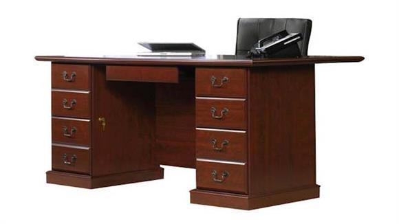 Executive Desks Sauder Classic Cherry Executive Desk