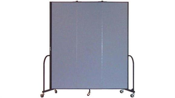 "Office Panels & Partitions Screenflex 88""H  Three Panel Portable Room Divider"
