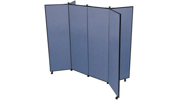 "Office Panels & Partitions Screenflex 69""H  Six Panel Mobile Display Tower"