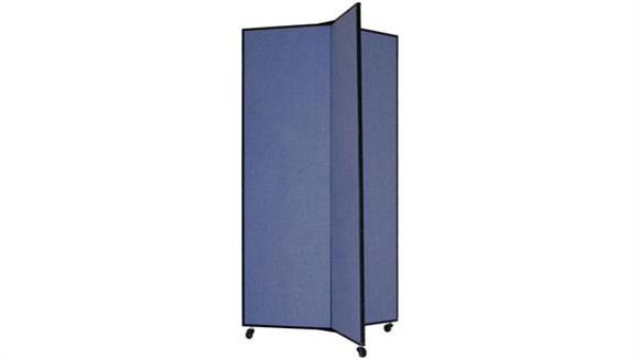 "Office Panels & Partitions Screenflex 77""H  Three Panel Mobile Display Tower"