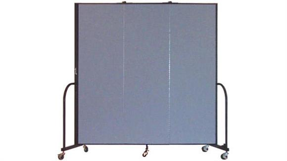 "Office Panels & Partitions Screenflex 80""H  Three Panel Portable Room Divider"