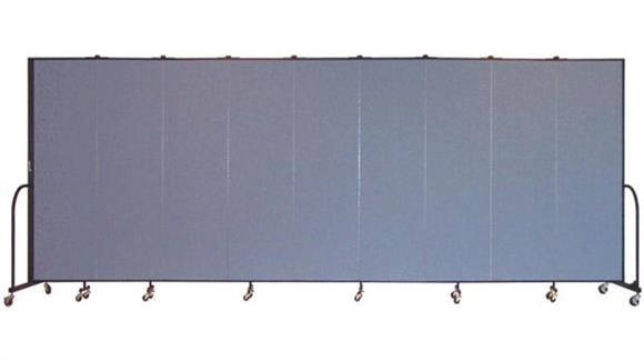 "Office Panels & Partitions Screenflex 80""H  Nine Panel Portable Room Divider"