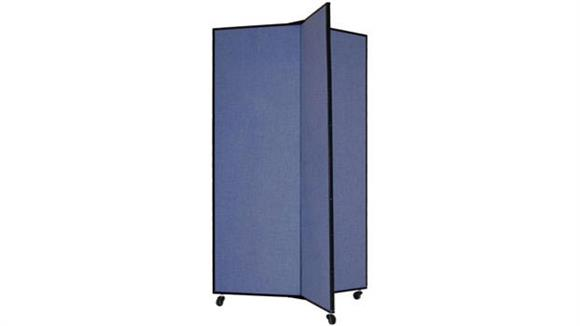 "Office Panels & Partitions Screenflex 69""H Three Panel Mobile Display Tower"
