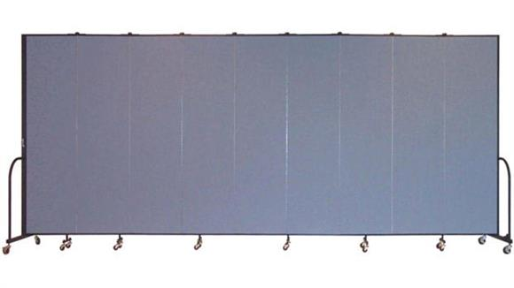 "Office Panels & Partitions Screenflex 88""H  Nine Panel Portable Room Divider"