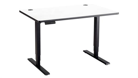 "Adjustable Height Tables Safco Office Furniture 48"" x 24"" Electric Height-Adjustable Table"