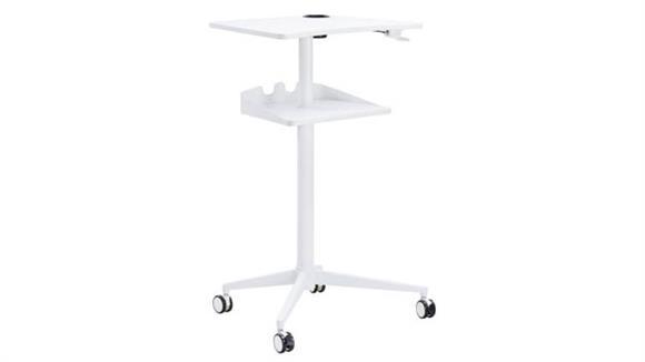 Adjustable Height Desks & Tables Safco Office Furniture Pneumatic Height-Adjustable Stand-Up Mobile Workstation
