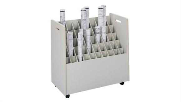 Media Storage Safco Office Furniture Mobile Roll File, 50 Compartment