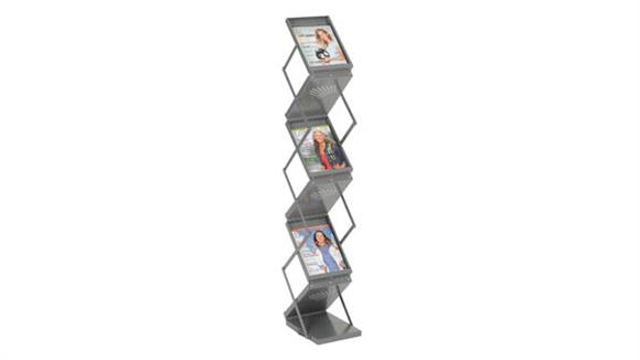Magazine & Literature Storage Safco Office Furniture Ready-Set-Go! Double Sided Folding Literature Display