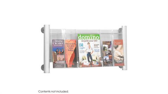 Magazine & Literature Storage Safco Office Furniture Luxe™ Magazine Rack - 3 pocket