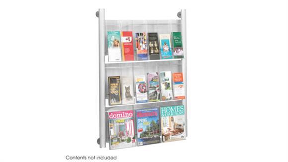 Magazine & Literature Storage Safco Office Furniture Luxe™ Magazine Rack - 9 pocket