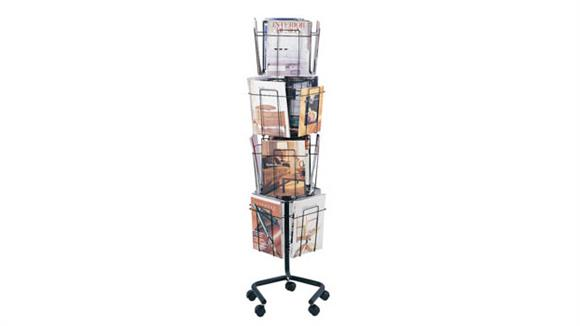 Magazine & Literature Storage Safco Office Furniture Rotary Floor Display