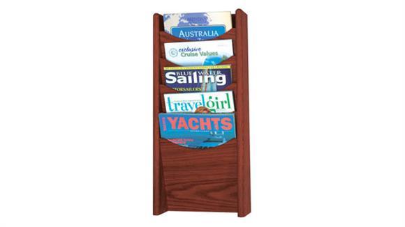 Magazine & Literature Storage Safco Office Furniture 5-Pocket Wood Magazine Rack