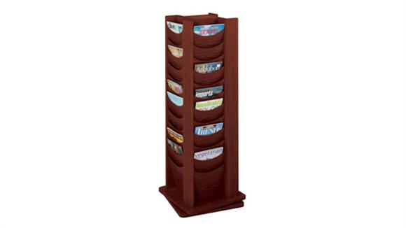 Magazine & Literature Storage Safco Office Furniture 48 Pocket Solid Wood Rotating Display Rack