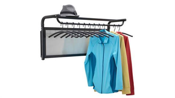 Coat Racks Safco Office Furniture Coat Wall Rack with Hangers
