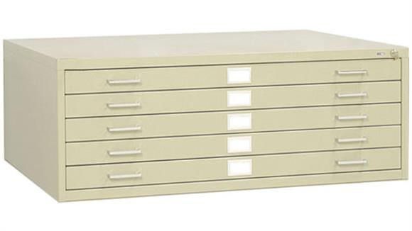 """Flat File Cabinets Safco Office Furniture 43""""W 5 Drawer Steel Flat File"""