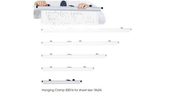 """Magazine & Literature Storage Safco Office Furniture 18"""" Hanging Clamps for 18"""" x 24"""" Sheets"""