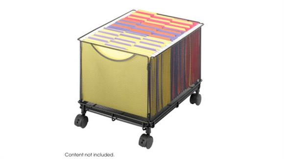 Mobile File Cabinets Safco Office Furniture Onyx™ Mesh Rolling File Cube