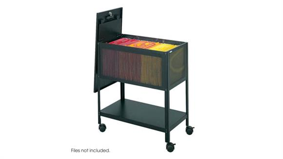 Mobile File Cabinets Safco Office Furniture Mesh Tub File with Top