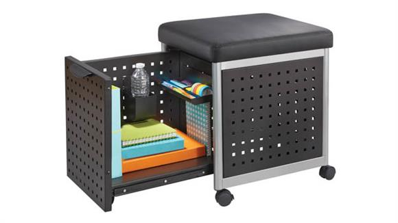 Mobile File Cabinets Safco Office Furniture Mobile Filing with Cushioned Seat
