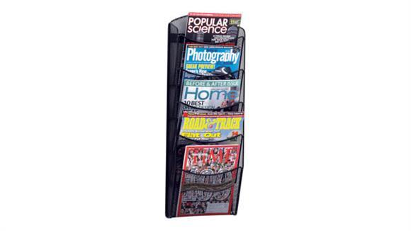 Magazine & Literature Storage Safco Office Furniture 5-Pocket Onyx™ Magazine Rack