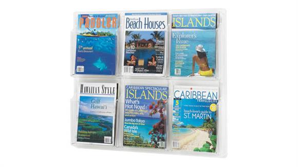 Magazine & Literature Storage Safco Office Furniture 6 Magazine Display