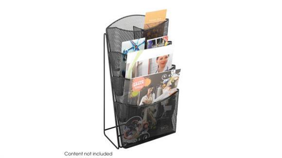 Magazine & Literature Storage Safco Office Furniture Onyx™ Mesh 4 Pocket Magazine Rack