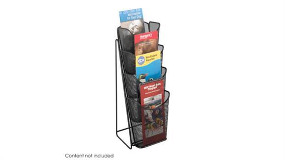 Magazine & Literature Storage Safco Office Furniture Onyx™ Mesh 4 Pocket Pamphlet Display