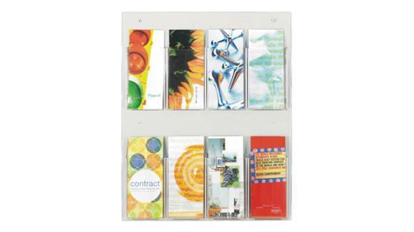 Magazine & Literature Storage Safco Office Furniture 8 Pamphlet Display