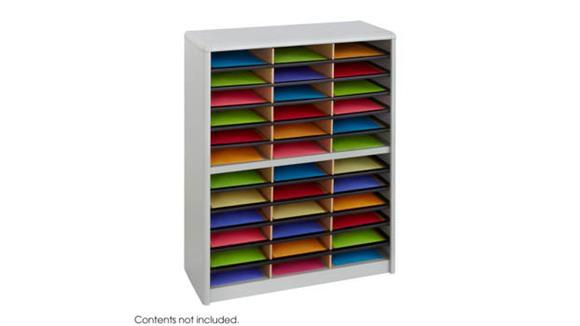 Magazine & Literature Storage Safco Office Furniture 36 Compartment Literature Sorter