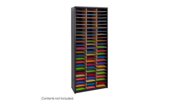 Magazine & Literature Storage Safco Office Furniture 72 Compartment Literature Sorter