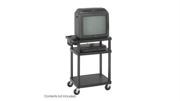 AV Carts Safco Office Furniture Plastic Height Adjustable AV Cart