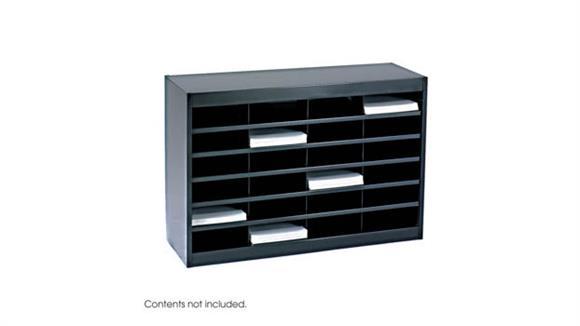 Magazine & Literature Storage Safco Office Furniture Steel 24 Compartment Letter size Literature Organizers
