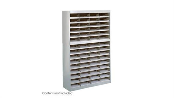 Magazine & Literature Storage Safco Office Furniture Steel 60 Compartment Letter Size Literature Organizer