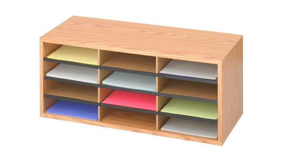 Magazine & Literature Storage Safco Office Furniture 12 Compartment Wood Literature Organizer