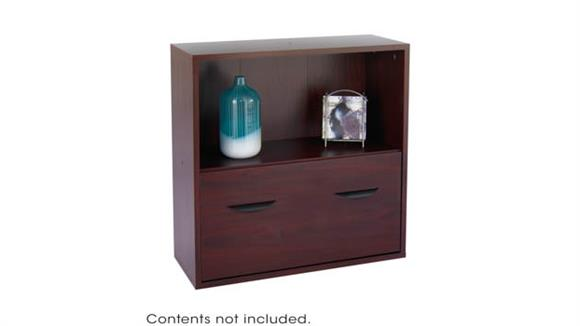 Storage Cabinets Safco Office Furniture Modular Storage Shelf with Lower File Drawer