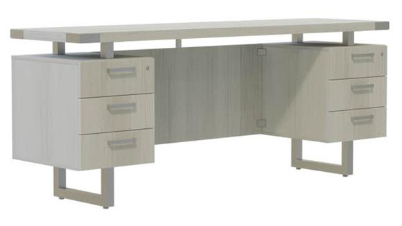 "Office Credenzas Safco Office Furniture 66""W x 20""D Credenza, BBB/BBB Pedestals"