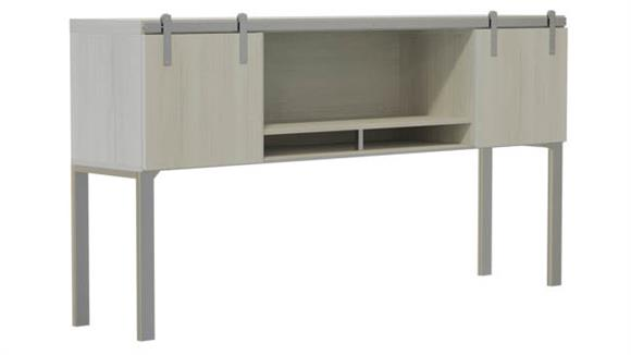 """Hutches Safco Office Furniture 66"""" Hutch with Sliding Wood Doors"""