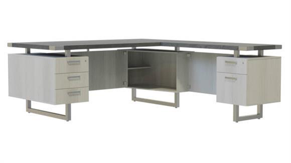 """L Shaped Desks Safco Office Furniture 72"""" x 78"""" L-Shaped Desk, BBB/BF Pedestals"""