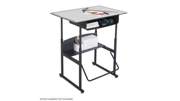 Adjustable Height Desks & Tables Safco Office Furniture Adjustable-Height Stand-Up Desk
