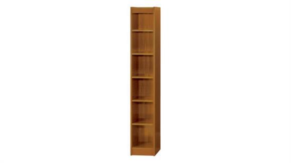 "Bookcases Safco Office Furniture 6-Shelf Veneer Baby Bookcase, 12""W"