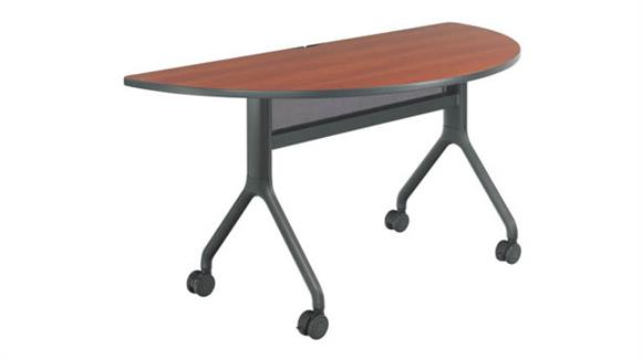 """Training Tables Safco Office Furniture 60"""" x 30"""" Half Round Table"""