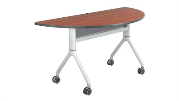 "Training Tables Safco Office Furniture 60"" x 30"" Half Round Training Table"