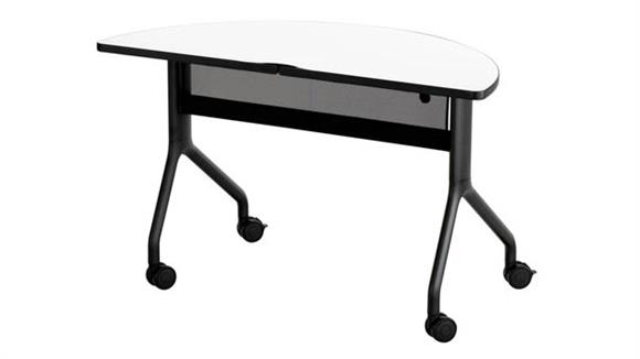 """Training Tables Safco Office Furniture 48"""" x 24"""" Half Round Table"""