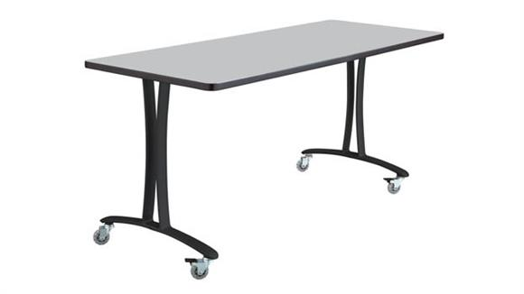 "Training Tables Safco Office Furniture 60"" x 24"" Mobile Table with Casters"